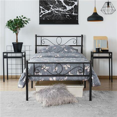 """main image of """"Einzelbettgestell Einzelbett Metallbett mit Lattenrost, Bettgestelle für Gästezimmer Schlafzimmer"""""""