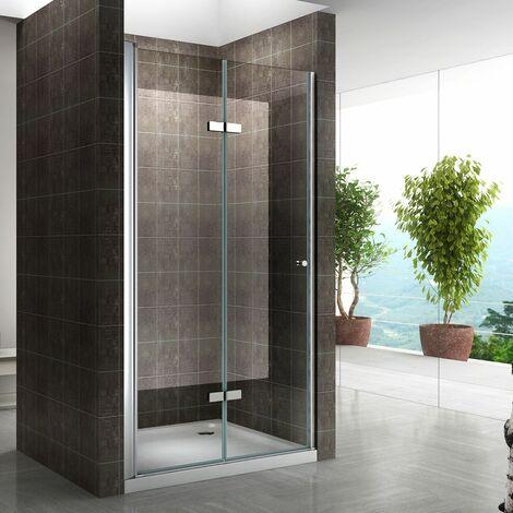 Einzelfalttür Falttür Duschtür Duschabtrennung Klarglas 6mm ESG Sicherheitsglas - alle Größen