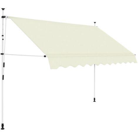 Einziehbare Markise Handbetrieben 250 cm Cremeweiß