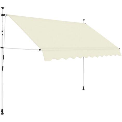 Einziehbare Markise Handbetrieben 300 cm Cremeweiß