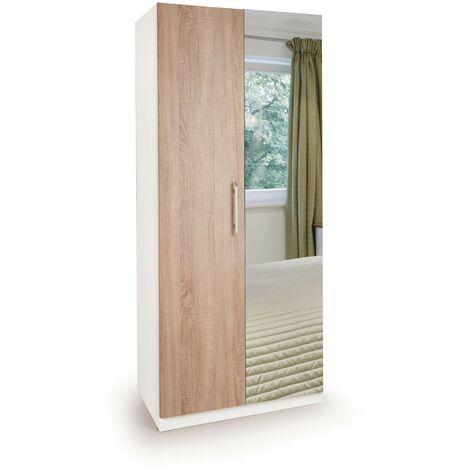 Eitan Wardrobe - Oak Doors 2 Doors