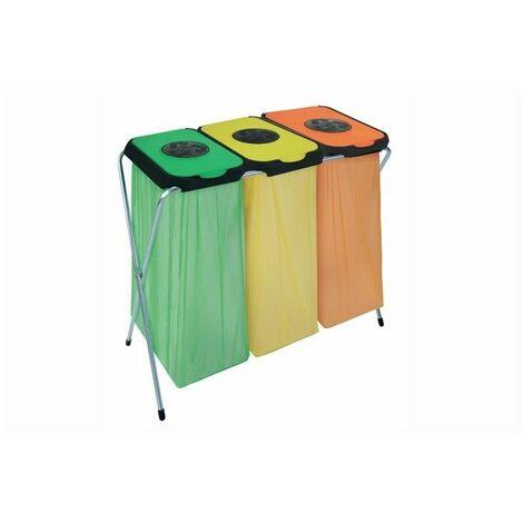 Eko-Thinks 3 supports sac poubelle - 95 x 45 x 90 cm - Couleur aléatoire - Livraison gratuite