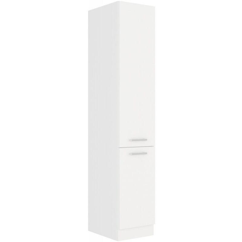 EKO White Hochschrank 40 cm Weiss matt Küchenzeile Küchenblock Küche Einbauküche