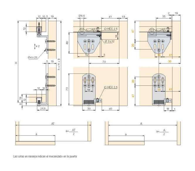 Home & Garden Eku Clipo-15 Armoires & Wardrobes Juego De Carros Para 1 Puerta Exterior