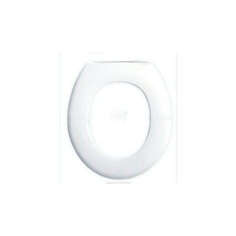 El clásico asiento de inodoro blanco y sencillo
