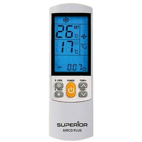 El control remoto Melchioni Superior universal para los acondicionadores de aire 559535020