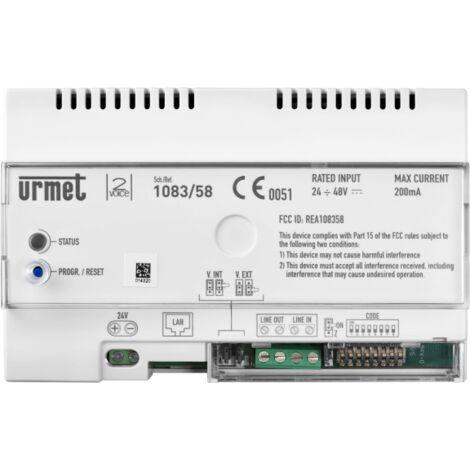 El dispositivo de la referencia de llamada 2voice en los teléfonos inteligentes Urmet 1083/58