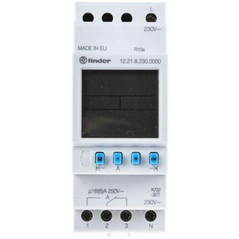 El interruptor de tiempo Finder digital semanales 2 módulos 122182300000