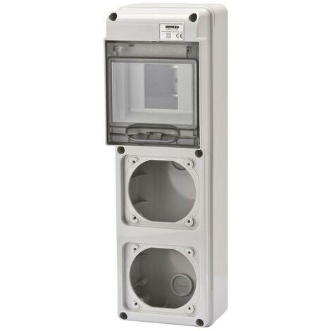 El marco Gewiss 5 módulos con 2 bridas para bases industriales GW68018N