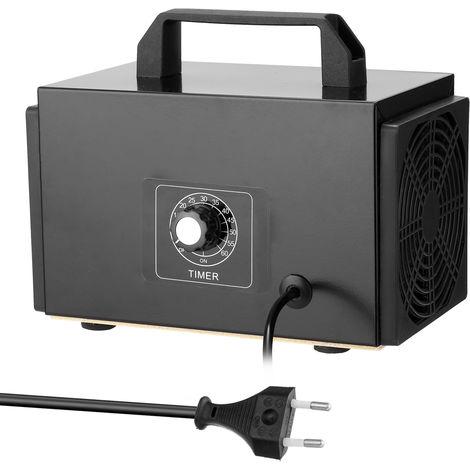 El ozono purificador portatil de filtro de la maquina Generador de aire con pulsador temporizado Ozonizador Ozonizador para el hogar del coche de formaldehido, 10 g / h