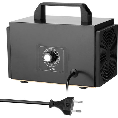 El ozono purificador portatil de filtro de la maquina Generador de aire con pulsador temporizado Ozonizador Ozonizador para el hogar del coche de formaldehido, 32 g / h