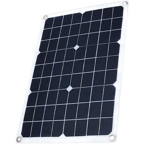 El panel solar con USB celula solar de silicio monocristalino puerto para el bricolaje camping Panel solar impermeable para iPhone, 20W