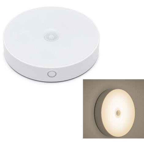 El sensor de movimiento LED de luz de la noche, la induccion del cuerpo humano, blanco calido