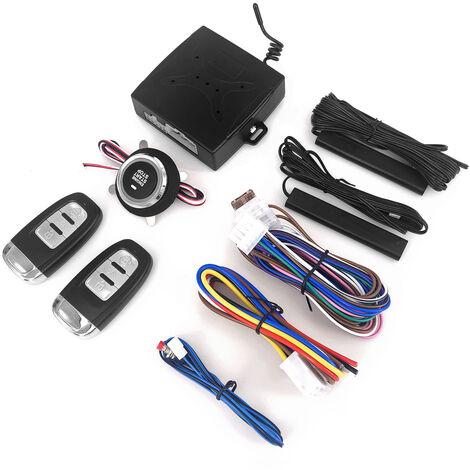 El sistema de arranque universal con un clic de 12 voltios, sistema de alarma, arranque remoto, control remoto, auto, uno, arranque, sistema de motor de parada
