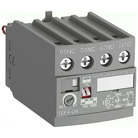 El temporizador electrónico ABB Retraso Eccitaz TEF4ON