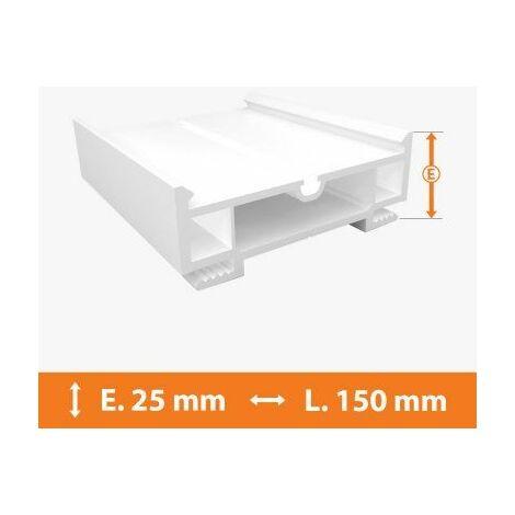 Elargisseur PVC Blanc - 25mm x L.150cm - Blanc
