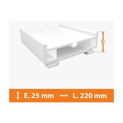 Elargisseur PVC Blanc - 25mm x L.220cm - Blanc
