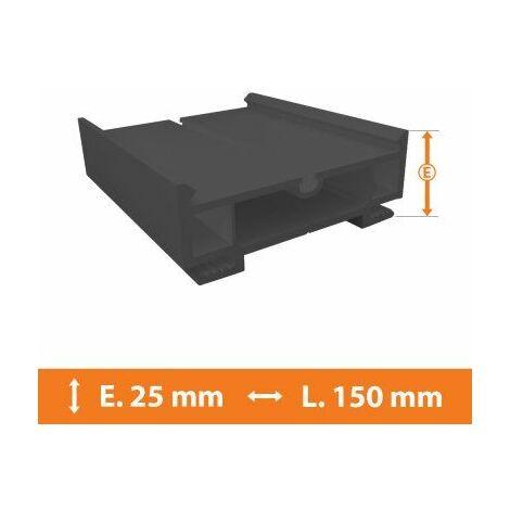 Elargisseur PVC Gris - 25mm x L.150cm - Gris