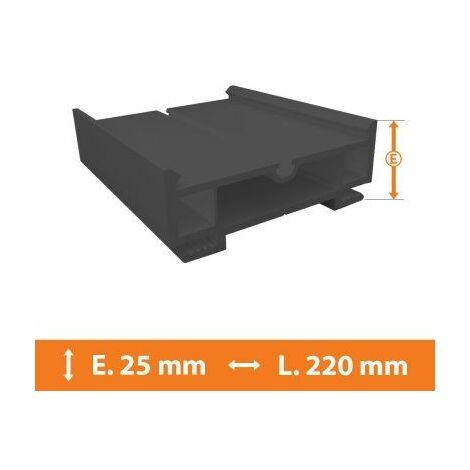 Elargisseur PVC Gris - 25mm x L.220cm - Gris