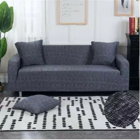 """main image of """"Elastic 4 Seater Sofa Cover Protective Cover for 94-112 '' Stretch Armchair (Dark Gray, 4 Seater Sofa Cover Type 10)"""""""