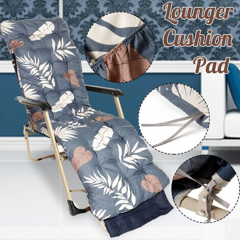 Elasticity Thickened Outdoor Beach Chair Cushion Double Sided Lunch Break Folding Chair Cushion Rocking Chair Elasticity Cushion 170x53x8cm (Cushion only)