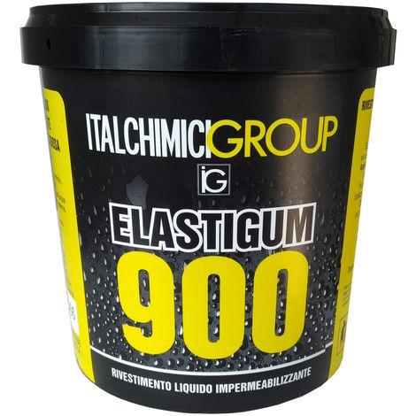 Elastigum 900 gomma liquida nera kg1 impermeabilizzante