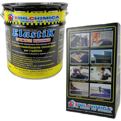 Elastik impermeabilizzante kg 5 + tessuto non tessuto h 0,25 x mt 10 rotolo 150 gr/mq