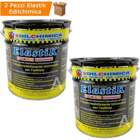 Elastik impermeabilizzante liquido elastico 2 confezioni da kg 5 per terrazzo balcone gazebo
