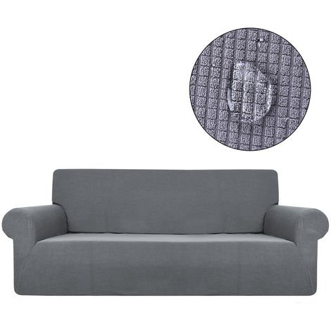 Elastische wasserdichte 3-Sitzer-Sofabezug Sofabezug Dunkelgrau