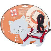 Elastisches Samtkatzen-Lätzchen für Katzen inklusive Leine Fuss-cat