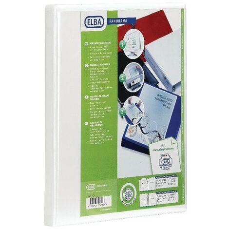 Elba 400008505 Presentation Binder A4 2D 40mm Wht (PK-6)