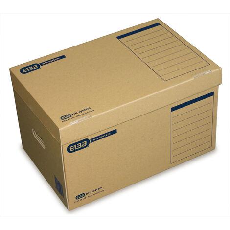 ELBA Archivbox tric, Wellpappe, Klappdeckel, 54,5 x 36 x 32 cm, naturbraun