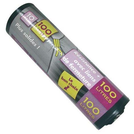 ELBE - Sac poubelle renforcé x10 - 100 L