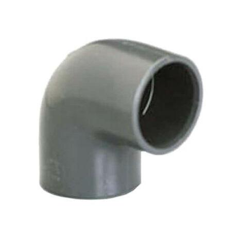 Elbow PVC Pressure PLASSON - To be glued - 90° - Diameter 20 mm - Female-female - 39306Z