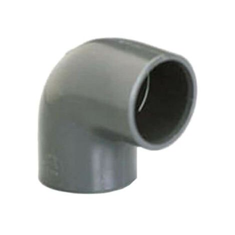 Elbow PVC Pressure PLASSON - To be glued - 90° - Diameter 75 mm - Female-female - 39312F