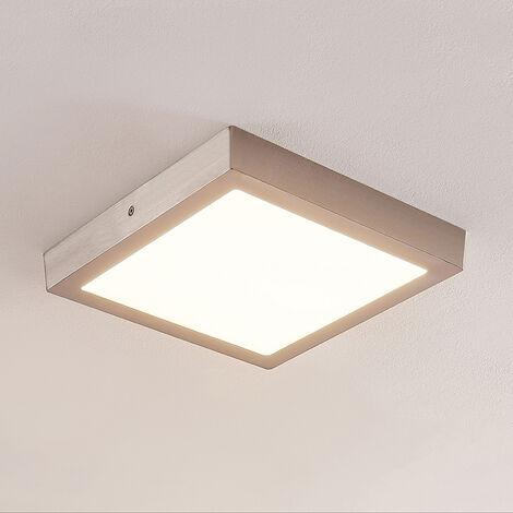 ELC Merina lámpara LED de techo níquel, 30x30cm