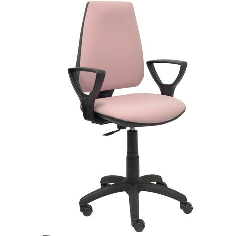 Elche CP bali chaise rose pâle à bras fixes roues de parquet