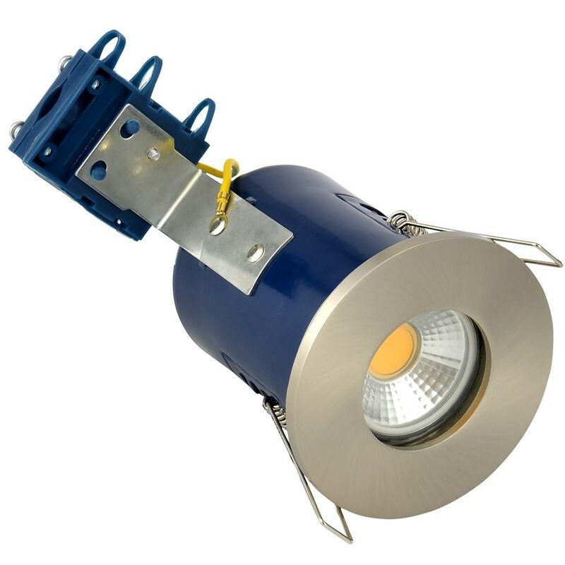 Image of Forum Lighting Solutions - Electralite IP65 Fire Rated Downlight - Satin Nickel