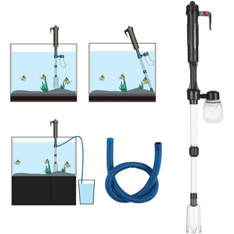Electric Aquarium Fish Tank Water Changer Sand Washer Gravel Cleaner Aquarium Cleaning Tool