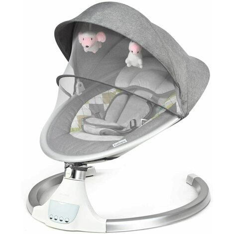 """main image of """"Electric Baby Bouncer Swing Chair Infant Swiwal Cradle Rocker Seat Bluetooth"""""""