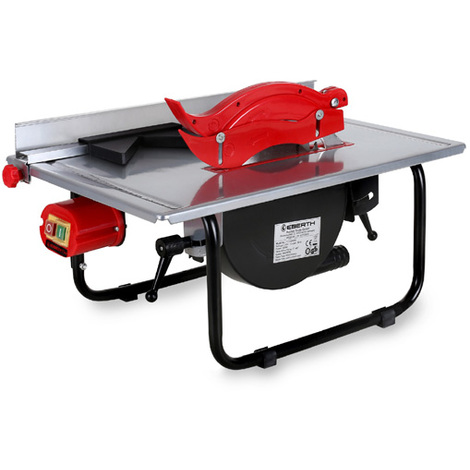 Electric Bench Table Saw (Saw Blade Ø 200 mm, Swivable up to 45°, 45 mm Cutting Height, Guidance, Carbide Saw Blade)