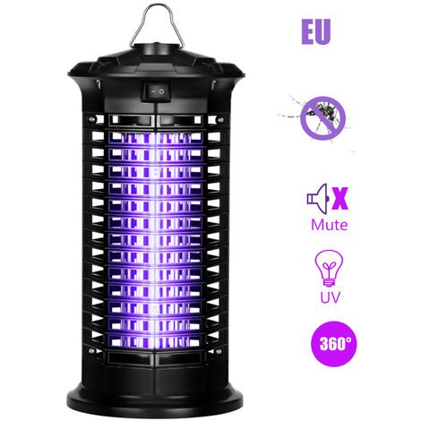 Electric Bug Zapper Mosquito Killer Bug Fly Insect Attractant Trap with UV Light Pests Catcher Lamp Portable Standing or Hanging