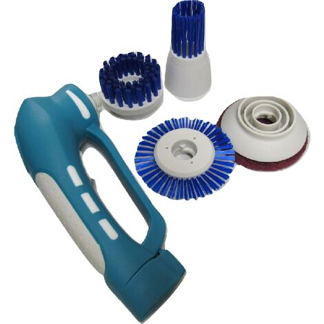 """main image of """"Electric Cleaning Brush with 4 Heads (Kitchen Floor Tile Hand Tool Cordless Rechargable Scrubber)"""""""