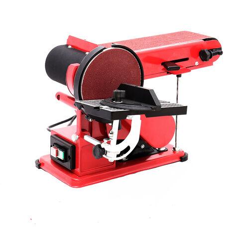 Electric Disc Belt Sander 230V 375W Bench Grinder Workshop Power Sanding Station