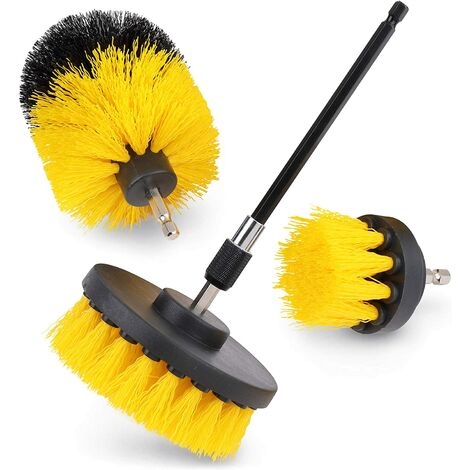 Electric Drill Brush, 4 pcs Cleaning Brush, Bathroom, Kitchen, Car and Motorcycle Use