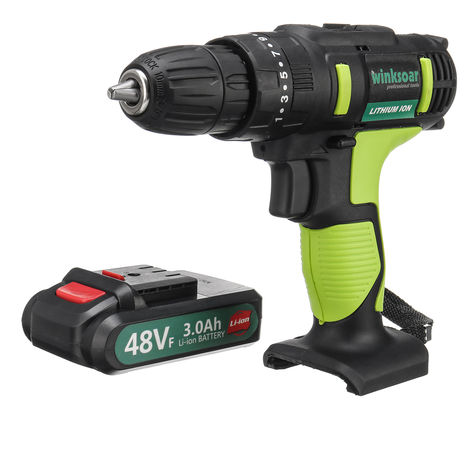 Electric Drill Driver 2 Speed ??Cordless 3.0 Ah Li-Ion Battery Led Lamp 28N.M 1350Rpm