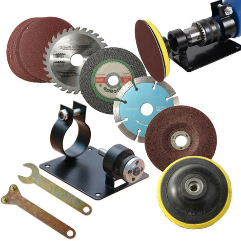 Electric Drill Kit Drill Bit Cutting Machine Support Polishing Grinder Tool Mohoo