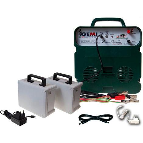 Electric Fence Energiser B/12 12V Battery/220V 5km For Electric Fences Electric Fencing ELECTRIFIERS + 2 Rechargeable Batteries Gemi Elettronica