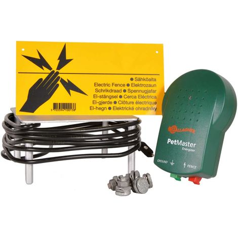 Electric fence kit to contain dogs and cats or defend against predators with perimeter up to 150m professional Gallagher