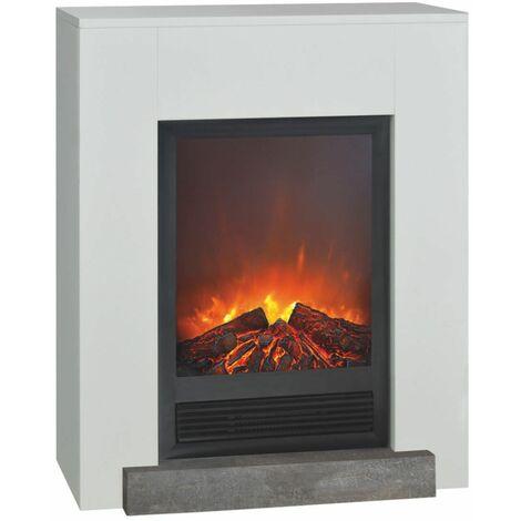 Electric Fireplace Elski with surround cm 78,6x95,6x30 XARALYN Hamar-Elski - Blanco